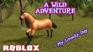 WILD ADVENTURE ROLEPLAY - I HAVE NO FRIENDS BECAUSE I'M DIFFERENT & LONELY.. ROBLOX HORSE WORLD Ep 1