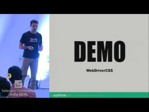 Advanced Automated Visual Testing With Selenium by Adam Carmi at SeConf16 India