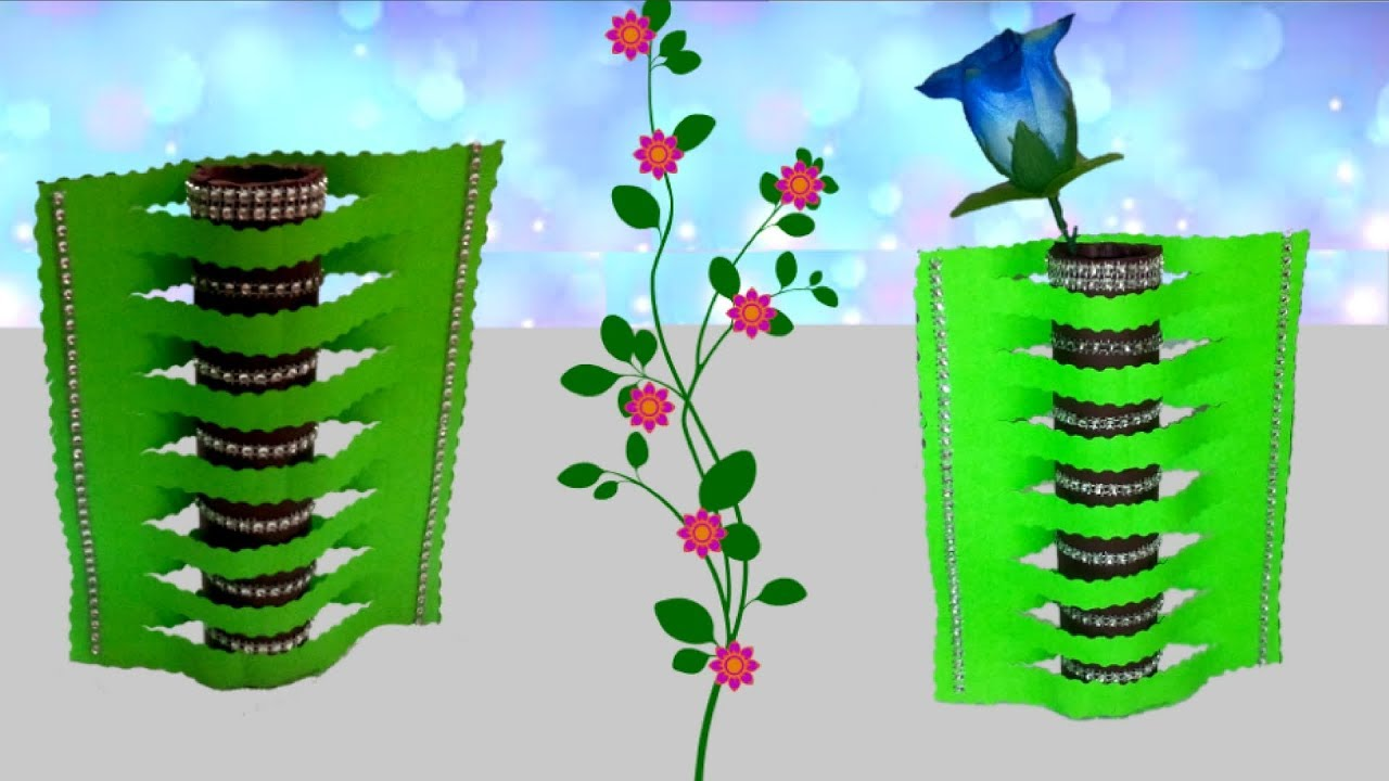 how to make handmade flower vase step by step