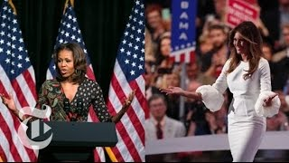 Comparing Melania Trump's Speech With Michelle Obama's | The New York Times