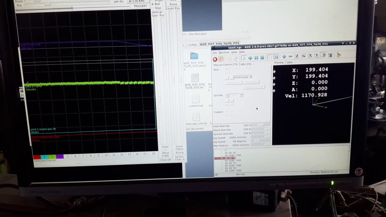 Elumatec SBZ 130 test Linuxcnc Mesa 6i25 7i77 7i74 7i70 7i71 by Toma Berisha