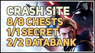 Zeffo Crash Site 100% Explored Chests Secrets and Echo Databank Star Wars Jedi Fallen Order