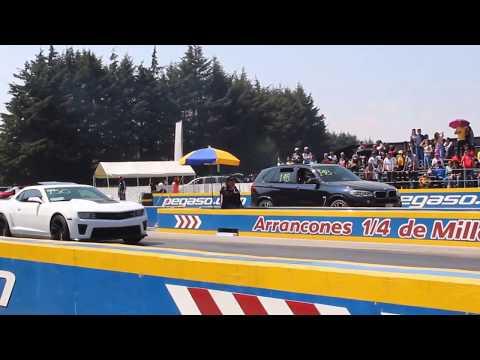Camaro ZL1 vs BMW X5M 2do Jale | Arrancones Pegaso Febrero 2018