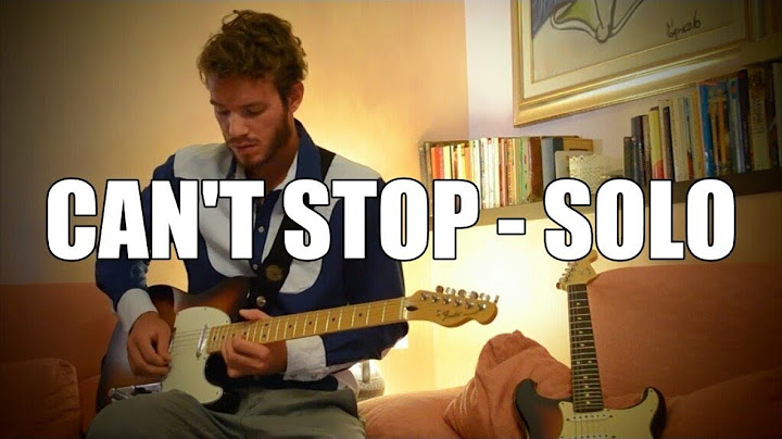 cant stop  red hot chili peppers guitar solo cover