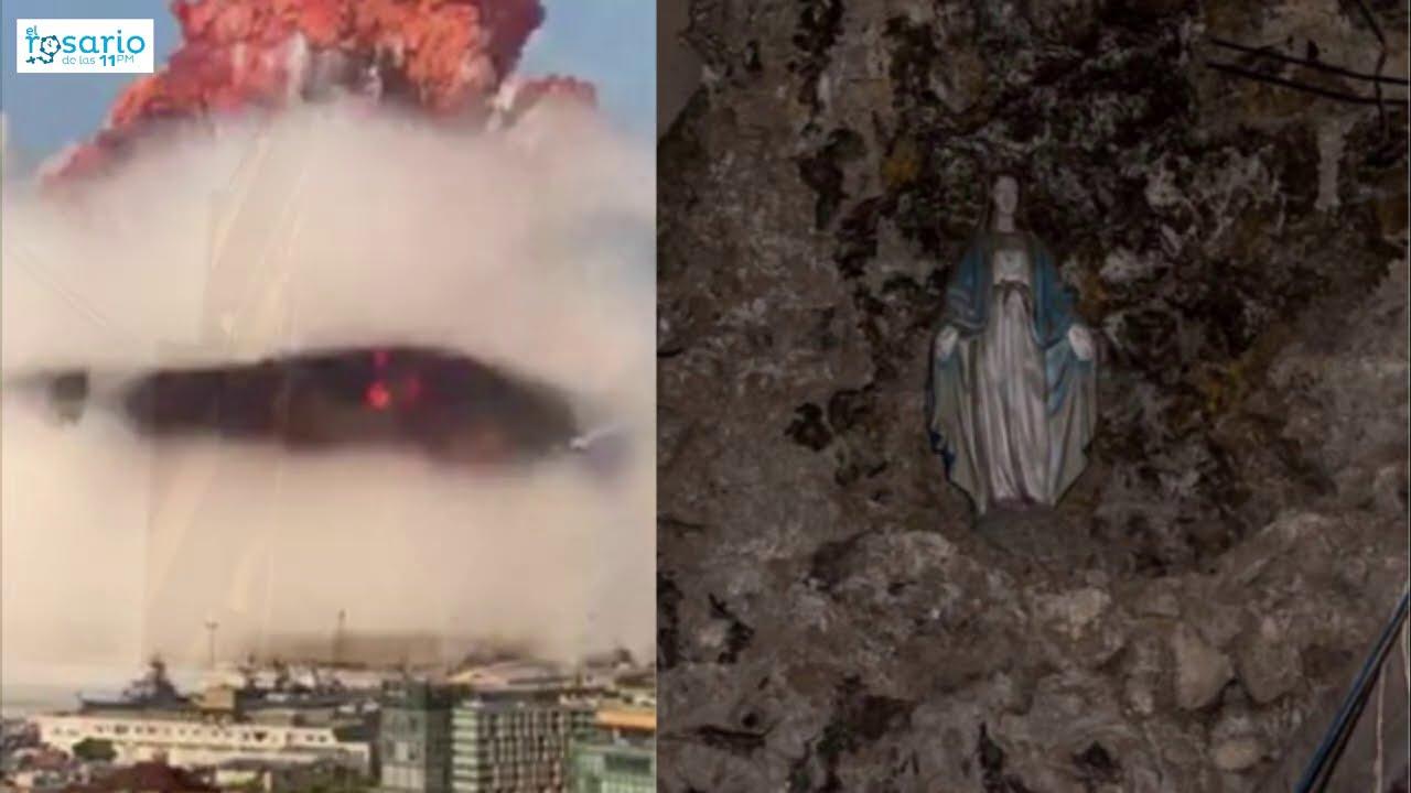 [Viral] Imagen de la Virgen: intacta en medio de la explosión de Beirut