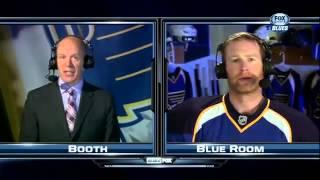 Jordan Leopold interview after 1st April. 5. 2013 Columbus Blue Jackets vs St. Louis Blues
