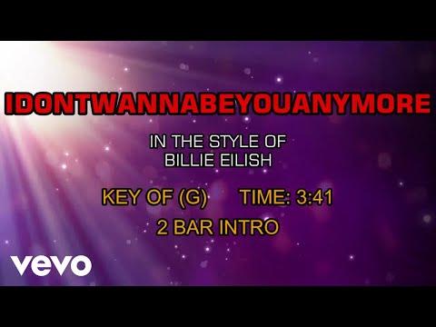 Billie Eilish - Idontwannabeyouanymore (Karaoke)