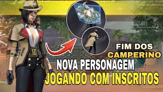 FREE FIRE - AO VIVO RANKEADA COM INSCRITOS NOVA PERSONAGEM CS 4X4 RUMO MESTRE SQUAD👏