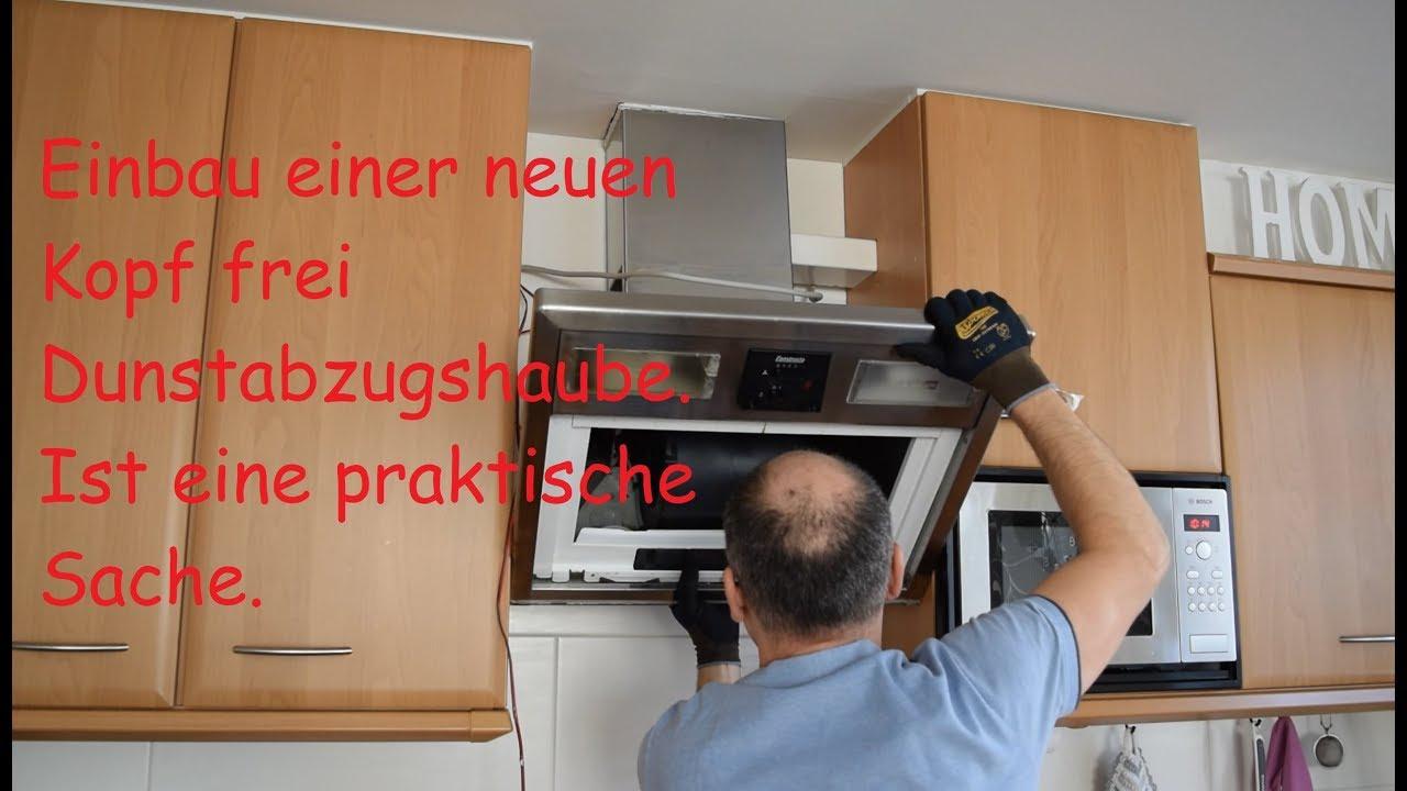 Neue Dunstabzugshaube in der Küche einbauen