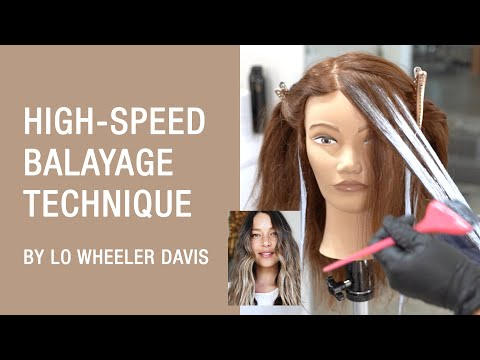 High-Speed Balayage Technique By Lo Wheeler Davis | Kenra Color