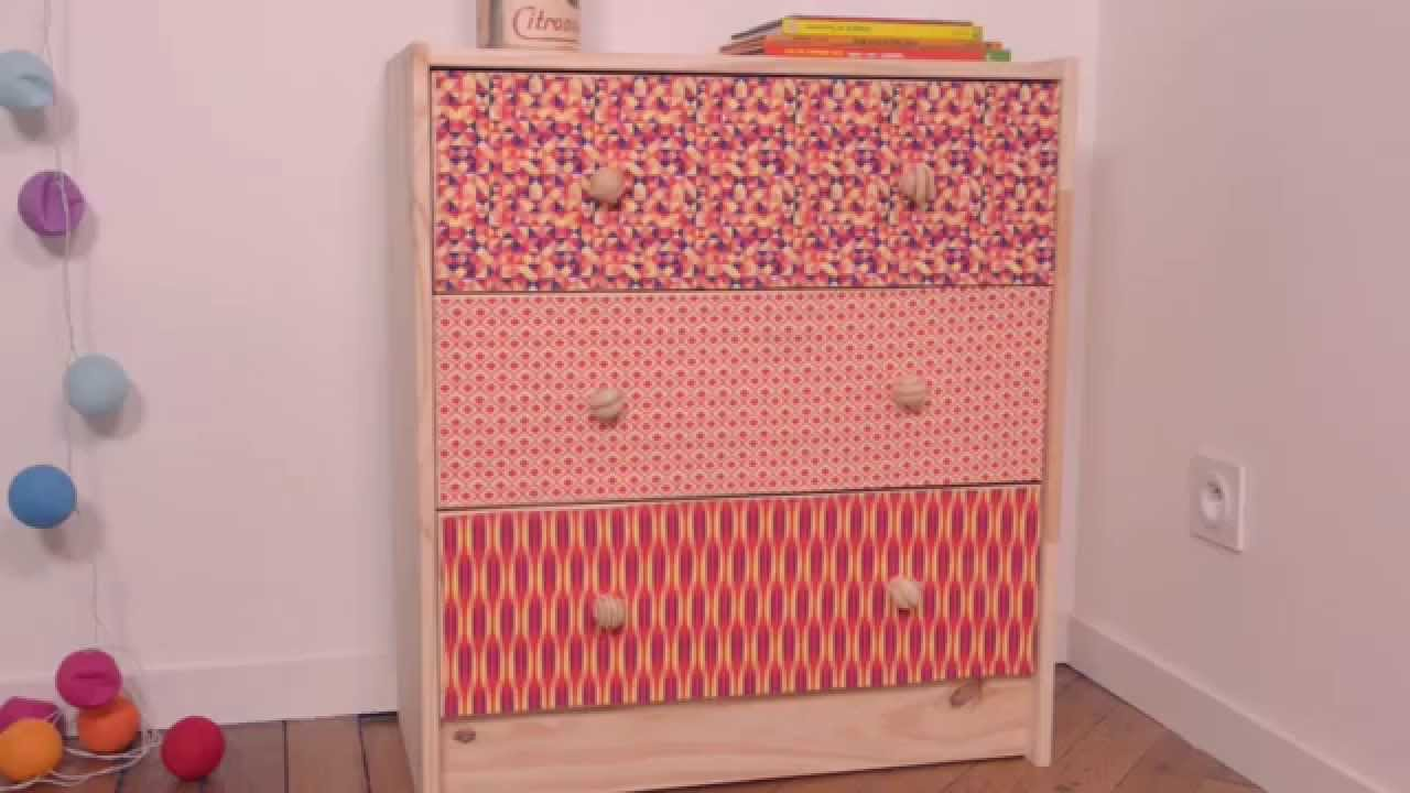 Comment customiser un meuble avec du tissu youtube - Customiser un lit en bois ...