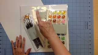 scrapbook haul new watercolor paper and watercolors from ctmh