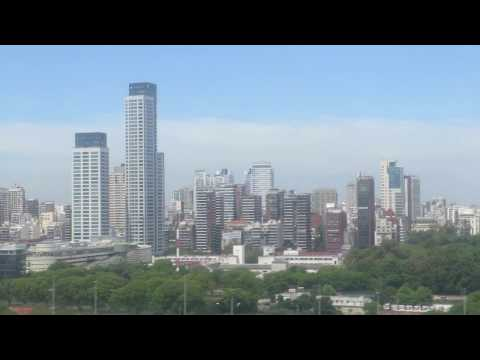 Landing Buenos Aires city view AEP Argentina