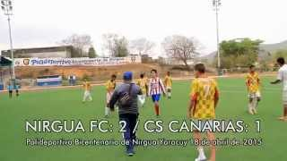 NIRGUA FC vs CS CANARIAS SUB 16 / 18 ABRIL 2015