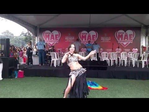 Dança do Ventre Patrícia Cavalcante Véu e Derbake Belly Dance Veil