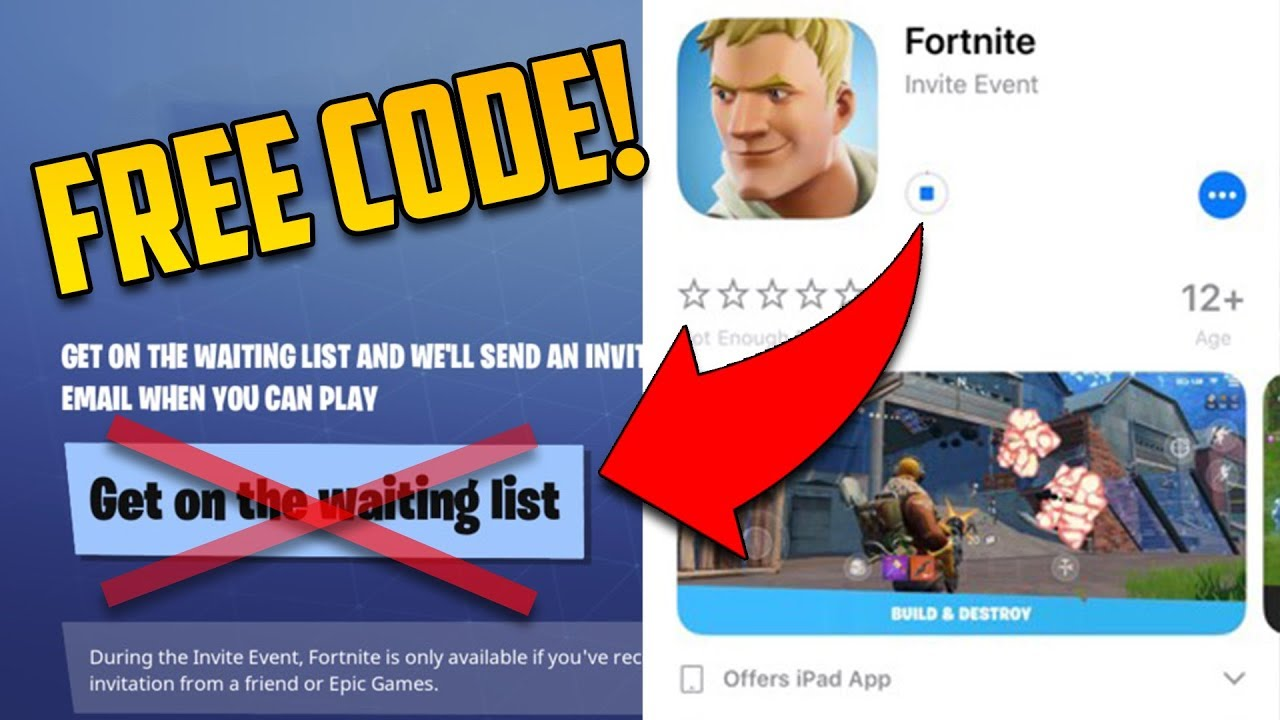 free fortnite mobile invite code how to download login in