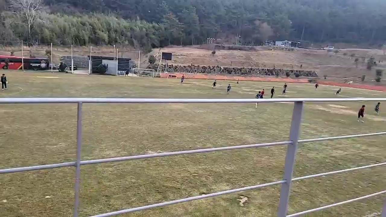 [통영 전지훈련] 경남 설사커, 용인대와의 연습경기 현장