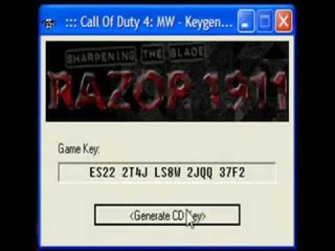 call of duty 4 key generator download
