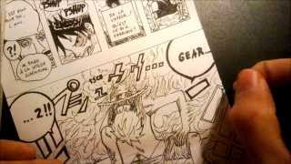 [One Piece]How to draw the page of the chapter 387