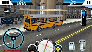 School Bus Driver Simulator - PRO Bus Transporter Game Android GamePlay FHD