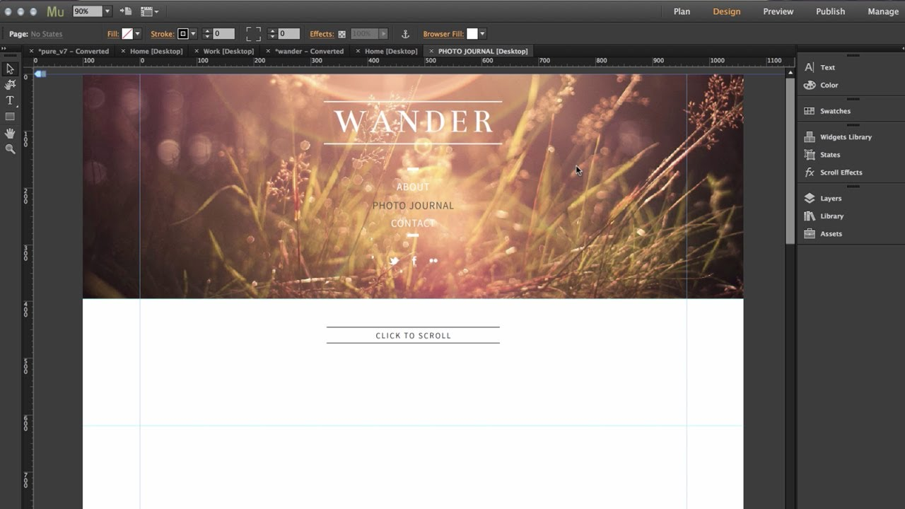 Adobe Muse CC 2014 - Full Width Slideshow Widget | Top 8 New Features by  MuseThemes com