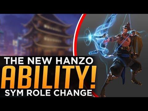 Overwatch: The NEW Hanzo ABILITY Sneak Peak! - Symmetra ROLE Change!