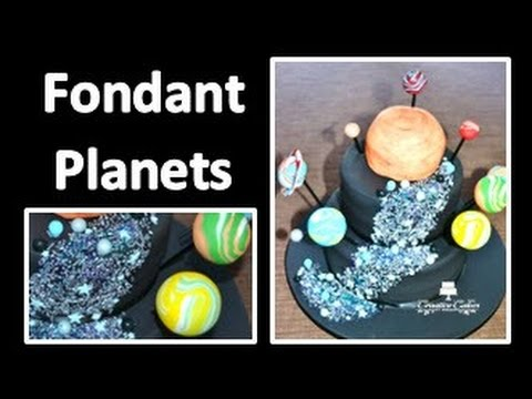 Tutorial globe cake decorating wafer paper and hand paint.