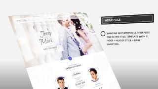 Wedding Invitation Multipurpose HTML Template