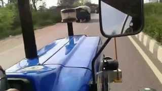 Tractor overtakes a car ! New Holland 3630 Running @ 55kmph