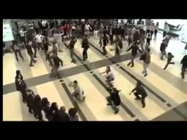 Beirut Duty Free Rocks Airport with Dabke Dance HD
