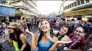 WORLD'S LARGEST WATER FIGHT | Songkran Festival | Bangkok 2018 | THAILAND'S NEW YEAR CELEBRATIONS