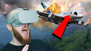PLANE CRASH IN VIRTUAL REALITY!! Face Your Fears Oculus Go Gameplay