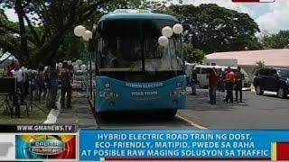 Hybrid electric road train, eco-friendly, pwede sa baha at posible raw maging solusyon sa traffic
