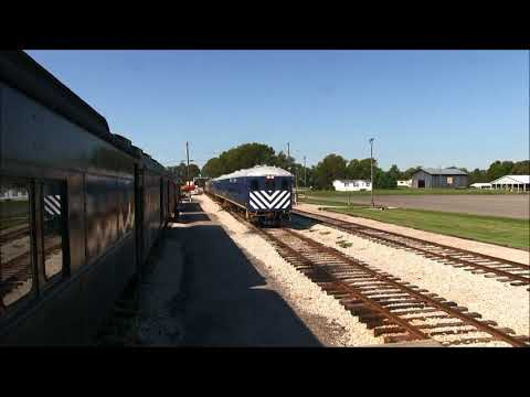 Diesel Locomotive Backing into Station - Bluegrass Railroad Museum - Versailles, KY
