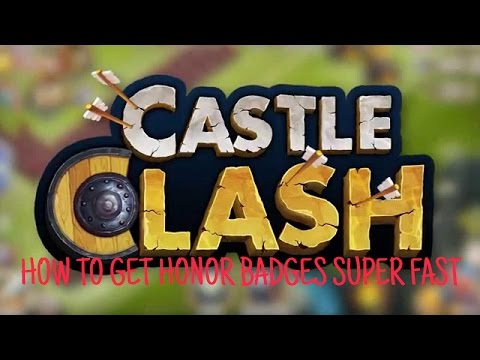 Castle Clash How To Get Honor Badges Fastest Ways!!