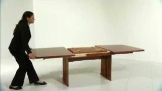 Danish Living Contemporary Extendable Dining Table Product Demonstration From Wharfside