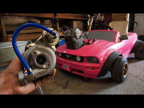 Turbo Install on the Barbie Car Go Kart 4K