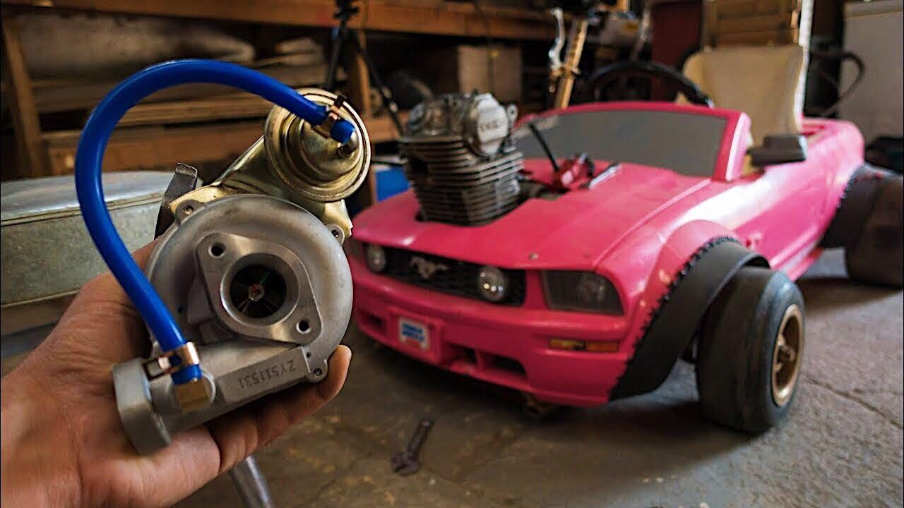 Turbo Install on the Barbie Car Go Kart 4K - YouTube