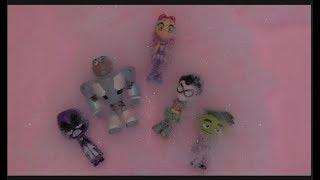 Teen Titans GO! Jump into Mr  Bubbles Bath Bubbles Beast Boy, Cyborg, Robin, Raven, Starfire