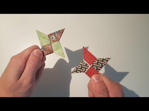 Ninja Stern aus Papier basteln : DIY easy