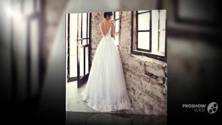 Свадебное платье о пола, с открытми плечами и встроенным бюстгалтером
