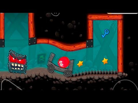 Magneto Ball RED BALL 4 Gravity Mixer Boss Fighter Escaped...Falling Caves