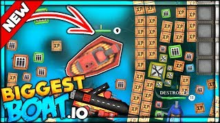 BRAND NEW IO GAME ⭐ THE BIGGEST BOAT EVER ON THE LATEST IO GAME!! | BattleBoats.io
