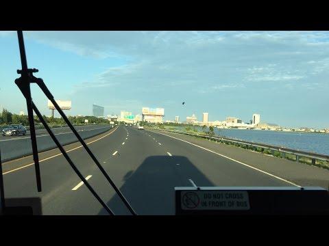 NJ Transit HD 60 FPS: Riding MCI D4500CL 7180 on Route 553 (Upper Deerfield - Atlantic City) 7/14/15