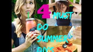4 Summer Dyis You Must Do! | Mason Jar Bottles, Headbands, Strawberry Lemonade + More!