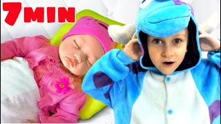 Hush little baby and Are you sleeping Tawaki kids.Collection of children's songs