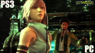 Final Fantasy XIII | PS3 vs PC (real-time cut scene)