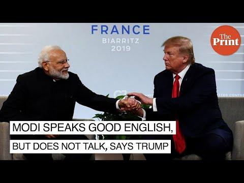 Modi speaks good English, but does not talk, says Trump