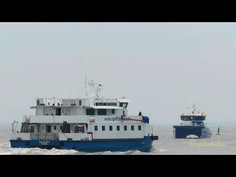 offshore crew service traffic SEA COMFORT OUZK2 IMO 9674282 SWATH 1 and SEAZIP 2 Emden