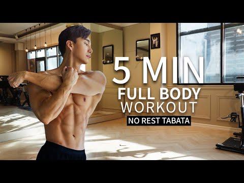 NO GYM FULL BODY WORKOUT (feat. 5 min Tabata) | 5분 전신 타바타 운동